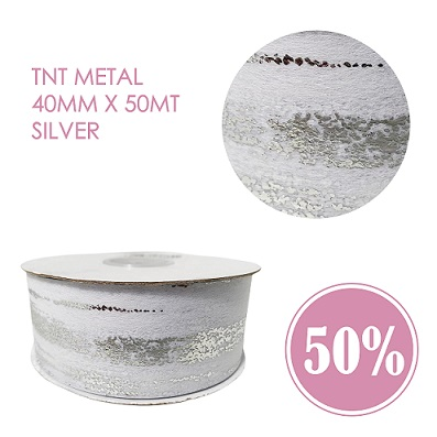TNT Metal 40MM x 50Mt Silver