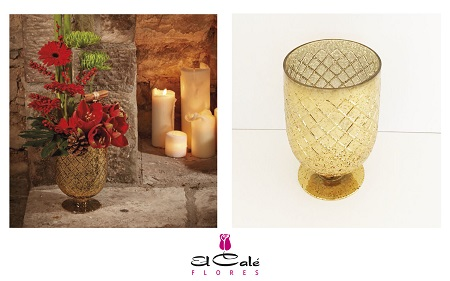 Oasis CANA CANDLE GOLD 16X16X22CM