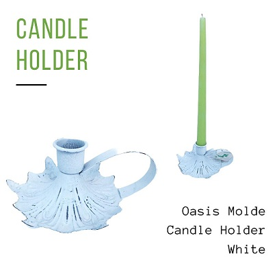 Oasis Molde Candle Holder White