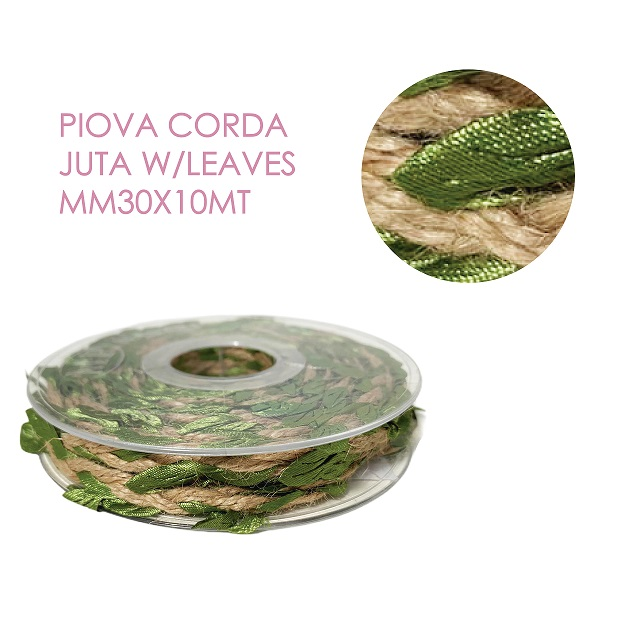 Piova CORDA JUTA W/LEAVES MM30X10MT