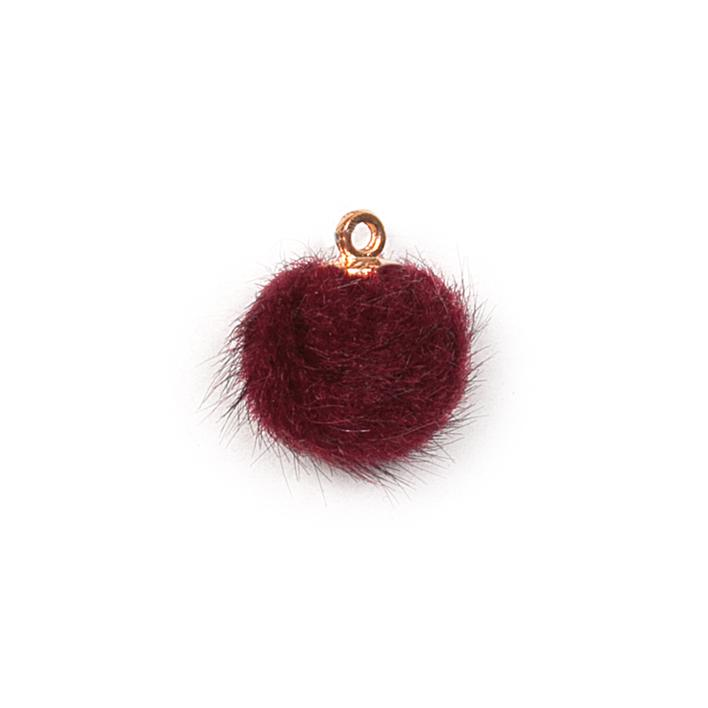 Piova FUR BUTTON (12PCS) MM15 BORDEAUX