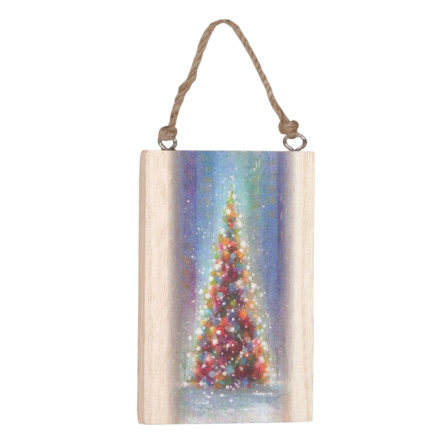 Piova WOOD WITH PICTURE CM12X8 CHRISTMAS TREE